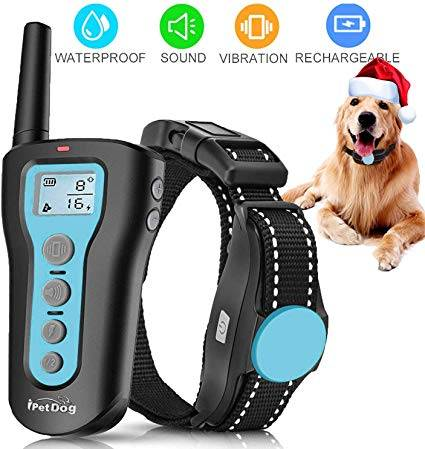 Dog Training Collar - 1000ft Rechargeable Dog Shock Collar with Remote