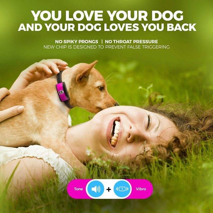 ELECANE Small Dog Bark Collar Rechargeable