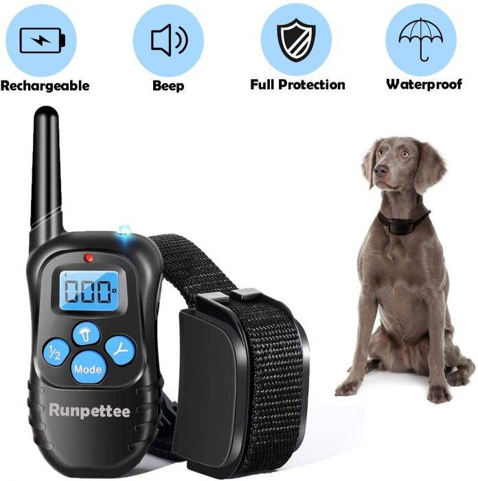 Runpettee Dog Training Collar Vibra Shock Electronic Collar