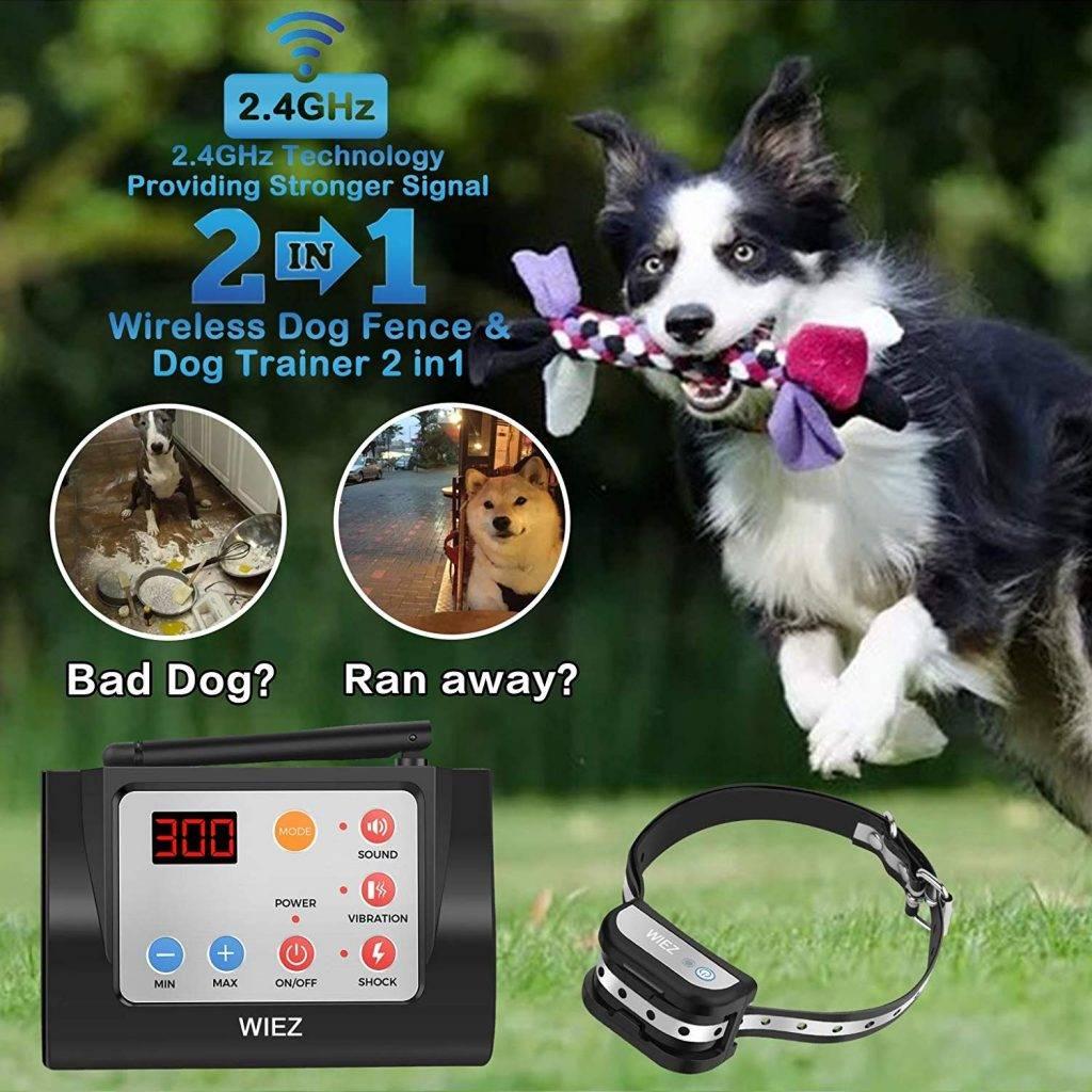 WIEZ Dog Fence Wireless and Training Collar