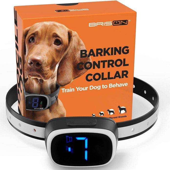 BRISON Dog Bark Collar - 3 Modes Beep Vibration No Shock