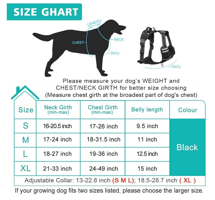 WINSEE Dog Harness No Pull Pet Size