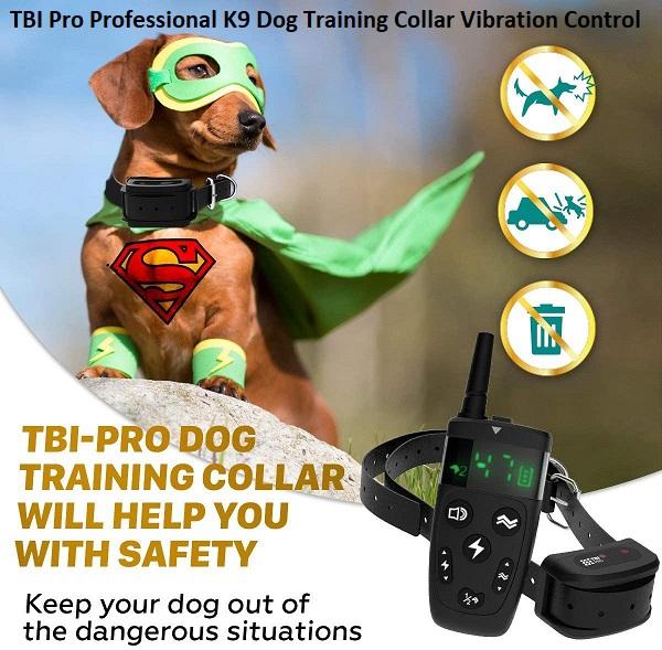 TBI Pro Professional K9 Dog Training Collar Vibration Control