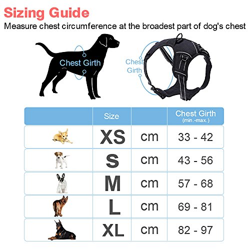 Eagloo Dog Harness Size Chart